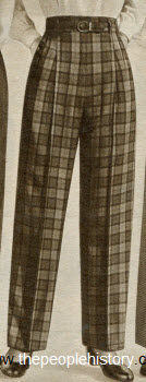 Rayon Nylon Plaid Slacks 1952