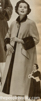 Reversible Wool Suede Velvet Coat 1952