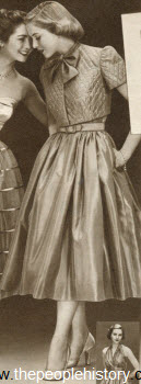 Taffeta Halter Dress 1952