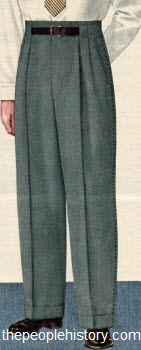 Tunnel Belt Loop Trousers 1952