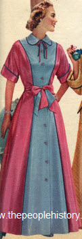 Two Tone Hostess Gown 1953