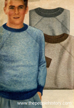 Faded Denim Color Sweatshirts 1954
