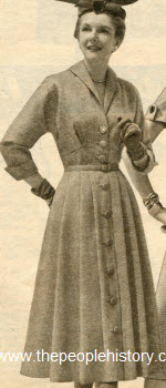 Frosty Tweed Dress 1954
