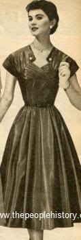 Iridescent Taffeta Dress 1954
