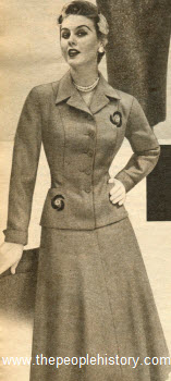 Ladies Three Piece Suit 1954