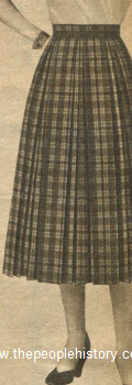 Plaid Pleated Skirt 1954