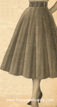 Swing Flared Corduroy Skirt 1954