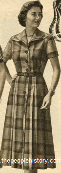 Wool Plaid Dress 1954