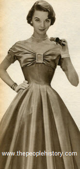 Rayon Satin Princess Dress 1955