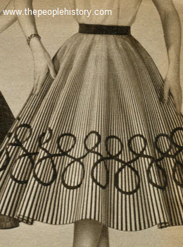 Screen Printed Circle Skirt 1955