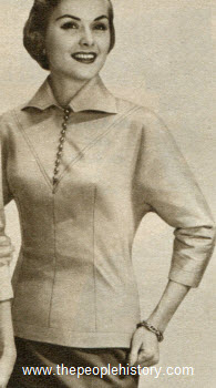 Sleek Torso Blouse 1955