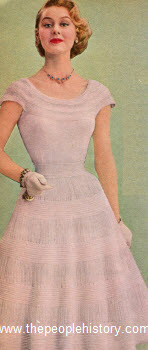 Two Piece Knit Party Dress 1955