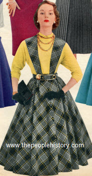 Wool and Nylon Plaid Jumper 1955
