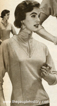 Zip Neckline Shirt 1955