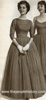 Dress with Lace Jacket 1958