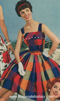 Bold Plaid Dress 1959