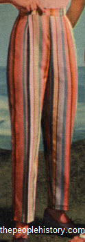 Color Striped Pants 1959