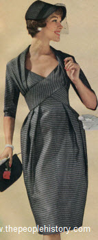 Continental Check Dress 1959