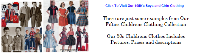 Click To Visit Our 50s Kids and Teens Clothing Selection