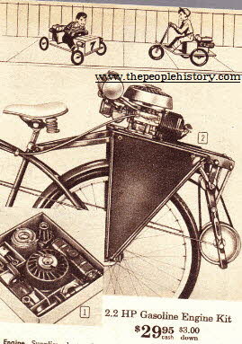 2.2 HP Gasoline Engine For Your Bicycle From The 1960s