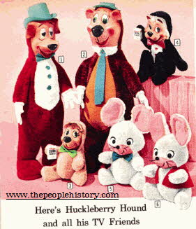 Huckleberry Hound and Friends Soft Toys From The 1960s