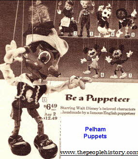 British Made Pelham Disney Puppets From The 1960s