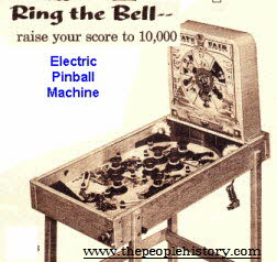 Electric Pinball Machine  From The 1960s