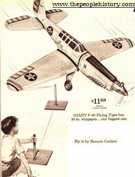Gas Powered Remote Control Plane From The 1960s