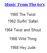 Sixties Music The Genres, The Artists and Most Popular songs from each year