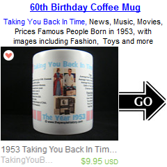60th Birthday Born in 1953 Coffee Mug