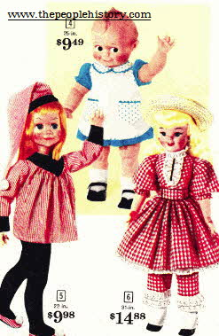 Selection Of Popular Dolls From The Early 60's From The 1960s