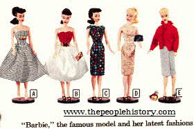 New Exiting Barbie Fashion Dolls Launched in March 1959 From The 1950s