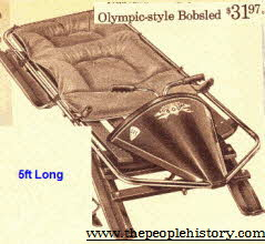 Olympic Style Bobsled From The 1960s