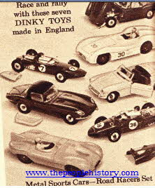 Dinky Metal Sports Car Racing Set From The 1960s