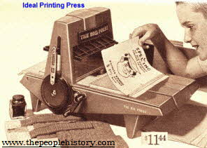 Ideal Printing Press  From The 1960s