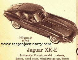 Jaguar XK-E Model  From The 1960s