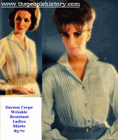 Ladies Wrinkle Resistant 60s Dacron Shirts