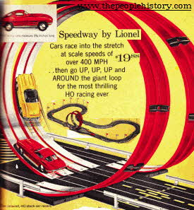 Lionel Speedway Racing Track From The 1960s