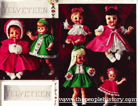 Velveteen Dolls From The 1960s