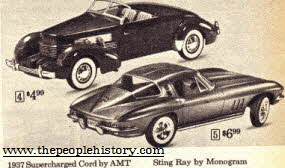 60s Stingray and Cord Car Models  From The 1960s