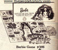 Barbie Board Game From The 1960s