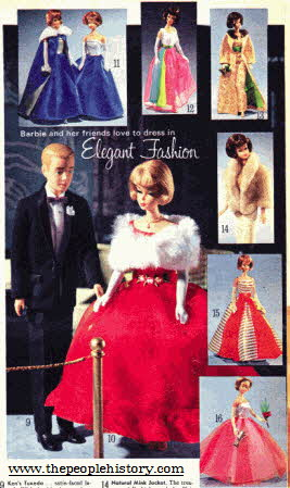 Barbie Elegant Fashion From The 1960s