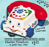 Fisher Price Chatter Phone  From The 1960s