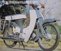 Honda C50 Motorbike 1965 From The 1960s