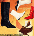 Ladies High Fashion mid 1960's Boots