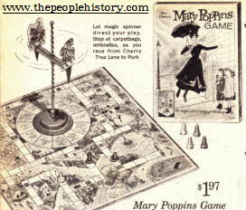 Mary Poppins Board Game From The 1960s