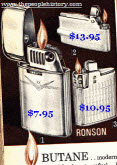 Ronson Butane Lighters