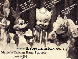 Mattel Talking Hand Puppets  From The 1960s