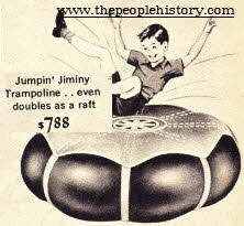 Garden Trampoline ( Looks a Little Unsafe in todays world ) From The 1960s