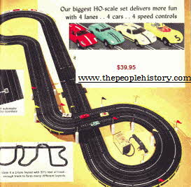 Aurora 4 track Auto Racing Set From The 1960s